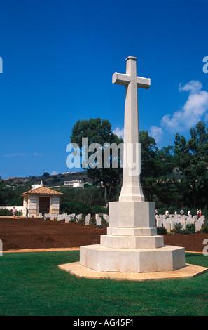 Soudha Bay Allied War Cemetery Crete Greece - Stock Photo