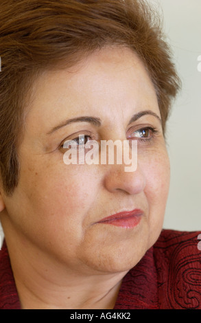 Iranian Lawyer and Human Rights activist Shirin Ebadi pictured at The Guardian Hay Festival 2006 Hay on Wye Powys - Stock Photo