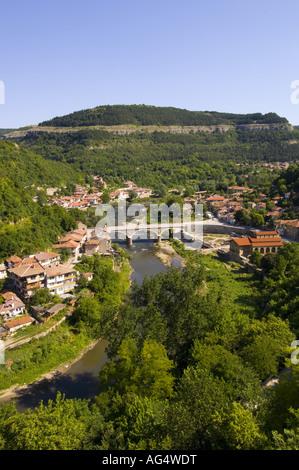 Veliko Tarnovo, Asenova Quarter From Tsarevets - Stock Photo
