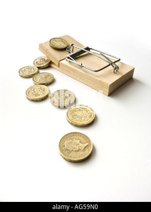 Mousetrap baited with money