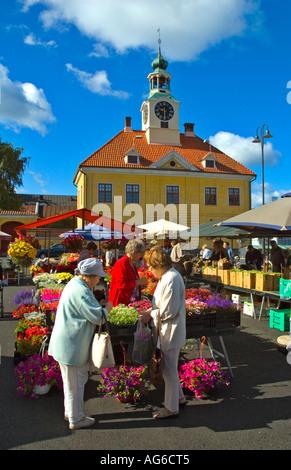Market square of Rauma Finland Europe - Stock Photo