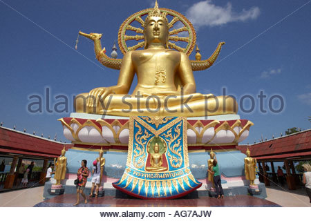Ko Samui, Wat Phra Yai (Aka temple Of the Big Buddha) - Stock Photo