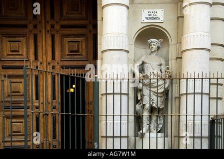 Detail of Escuela de Artes Aplicadas y Oficios Atisticos, Barcelona, Spain - Stock Photo