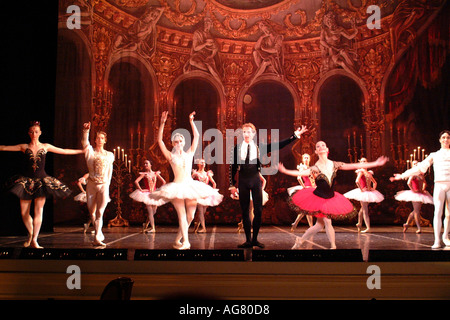 St Petersburg Mariinskiy Dancers at the Hermitage Theatre Russian Federation - Stock Photo
