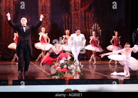 St Petersburg Russian Federation Mariinskiy Dancers Performing at the Hermitage Theatre - Stock Photo