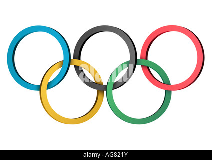 Olympische Ringe nur redaktionell verwendbar Olympic rings for editorial use only - Stock Photo