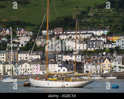 Dartmouth viewed from Kingswear - Stock Photo