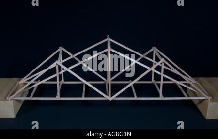 Balsa Wood Model Bridge Stock Photo Royalty Free Image