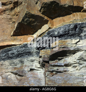 aboveground coal bed in the Mutten Valley, Germany, North Rhine-Westphalia, Ruhr Area, Witten - Stock Photo