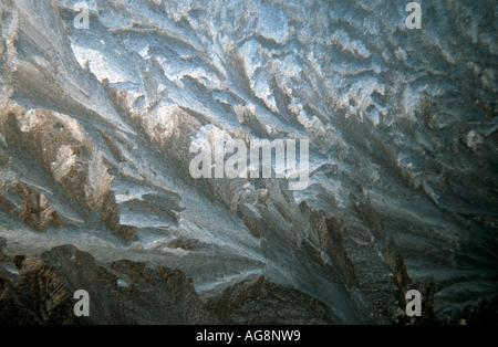 Frostwork on window, Germany - Stock Photo