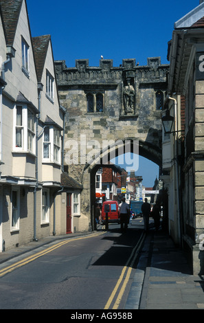 High Street Gate the North Gate to Cathedral Close Salisbury Wiltshire England - Stock Photo