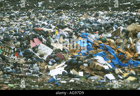 Landfill Site South Wales UK SB005 - Stock Photo