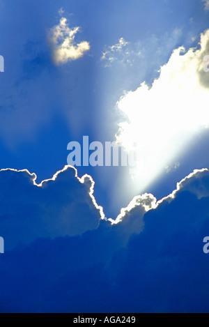 Sun Rays bursting through clouds