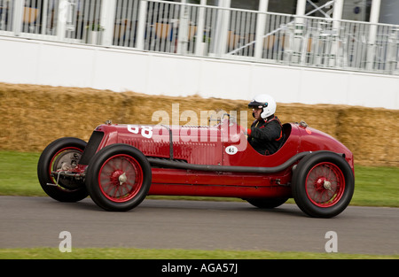 1933 Maserati 8CM at the Goodwood Festival of Speed, Sussex, UK. - Stock Photo