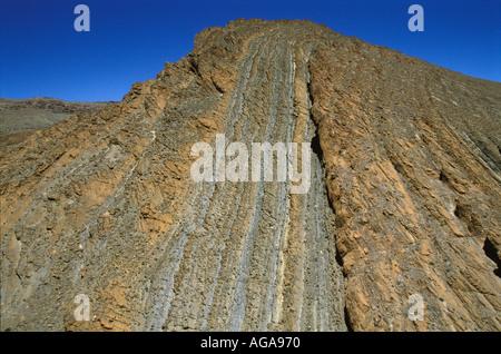Mountain patterns near Imilchil the High Atlas Morocco - Stock Photo