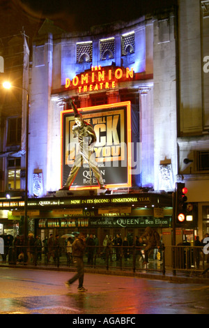 We will rock you the musical about Queen at the Dominion Theatre in London - Stock Photo