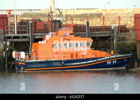 Whitby Lifeboat George & Mary Webb on Station in River Esk North Yorkshire - Stock Photo