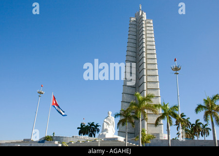 The Memorial Jose Marti, Plaza de la Revolucion, Havana, Cuba - Stock Photo