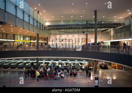 Switzerland Zuerich Airport Kloten check In - Stock Photo