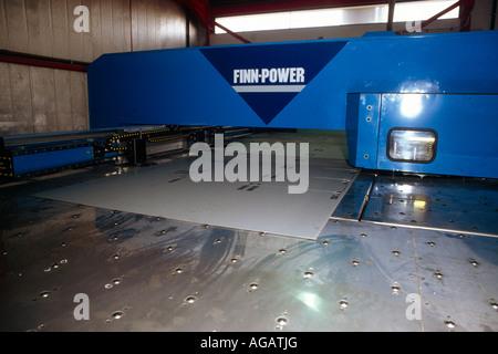 Dubai UAE Jebel Ali Free Trade Zone Metal Box Factory Machinery - Stock Photo
