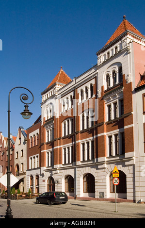 Modern stylised architecture in Elblag Old Town, Poland building house - Stock Photo