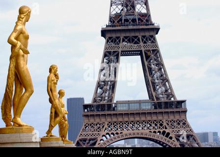 Palais de Chaillot Place du Trocadero Paris France - Stock Photo