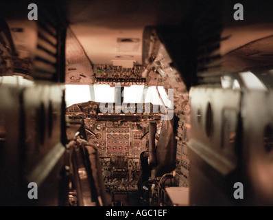 Concorde flight deck - Stock Photo