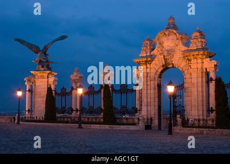 Ornamental gateway Royal Palace Budavari Palota Budapest Hungary - Stock Photo