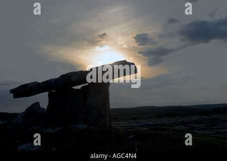 Poulnabrone Dolmen, Burren, Co. Clare, Ireland - Stock Photo