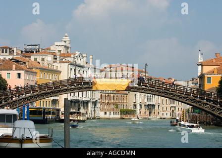 Academia bridge over the Grand canal Venice Italy - Stock Photo