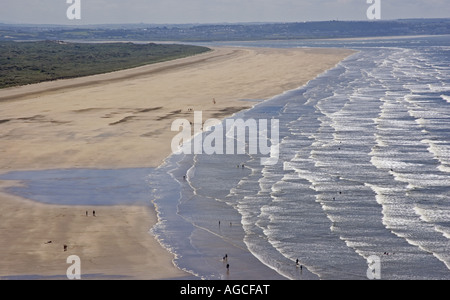 Impressive sandy beach on the western fringes of Braunton Burrows near Barnstaple, North Devon - Stock Photo