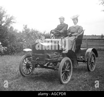 antique car from approx 1920 - Stock Photo