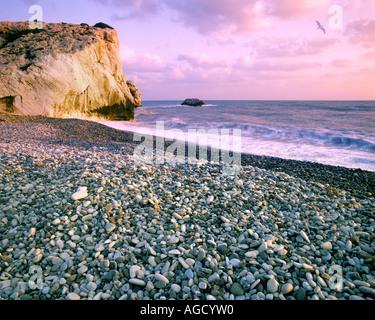CY - PAPHOS: Rock of Romiou, the birthplace of Aphrodite (Petra tou Romiou) - Stock Photo