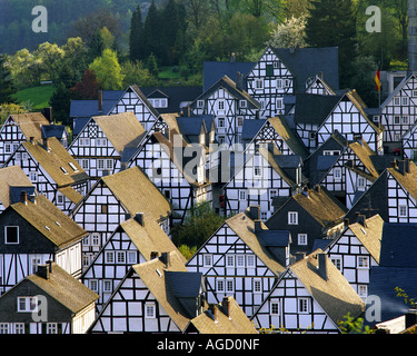 DE - NORTH-RHINE-WESTPHALIA:   Picturesque village of Freudenberg - Stock Photo
