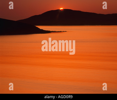 GB - SCOTLAND:  Sunset over Sound of Taransay in the Outer Hebrides - Stock Photo