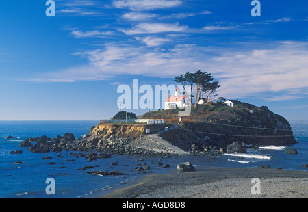 California Crescent City Battery Point Lighthouse - Stock Photo