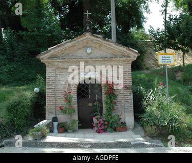 Roadside Catholic Shrine near Positano Italy - Stock Photo