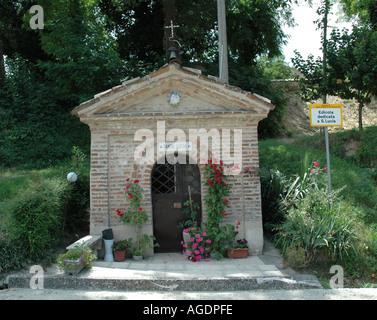 Roadside Catholic Shrine near Positano Italy - Stock Photo