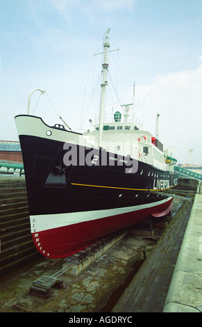 Edmund Gardner (Liverpool Pilot Cutter No 2) in dry dock, Maritime Museum, Liverpool, England - Stock Photo