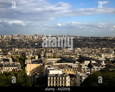 View from Sacré Couer Paris - Stock Photo
