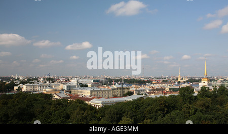 St Petersburg from St Issac's Colonnade - Stock Photo