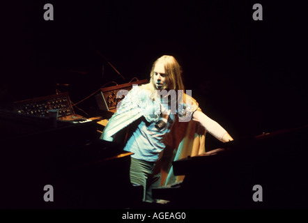 YES Rick Wakeman on the Tales From Topographic Oceans tour in 1974. He left the band shortly afterwards. - Stock Photo
