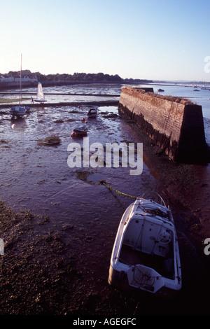 View of Starcross on Exe Estuary - Stock Photo
