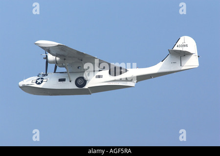 Consolidated PBY Catalina WW2 US Navy amphibious flying boat - Stock Photo