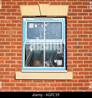 Newly fitted window - Stock Photo