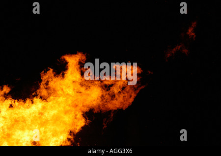 flame of blazing fire - Stock Photo