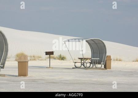 White Sands National Park New Mexico USA - Stock Photo