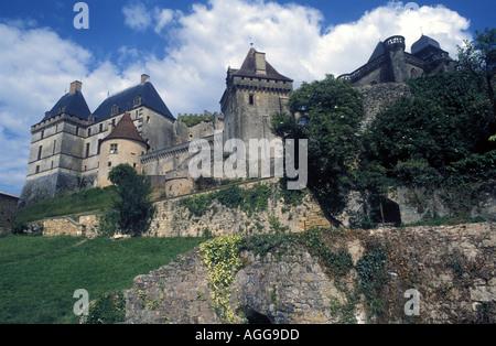 Biron castle Perigord Château de Biron - Stock Photo