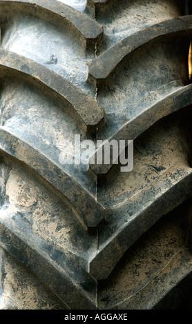 Tractor tyre - Stock Photo