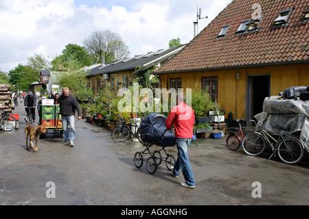 The Freetown Christiania in Copenhagen, Denmark - Stock Photo